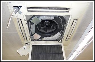 室内機、室外機を細かく動作確認と不具合をチェック